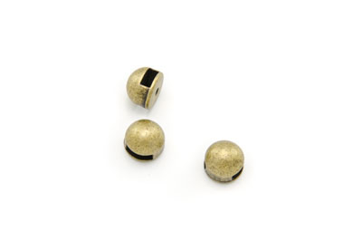 slider bead round 10mm antique bronze x20pcs