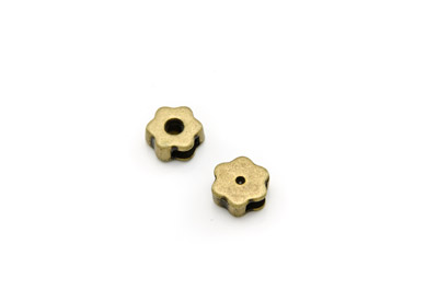 slider bead flower 11mm antik bronze x20pcs