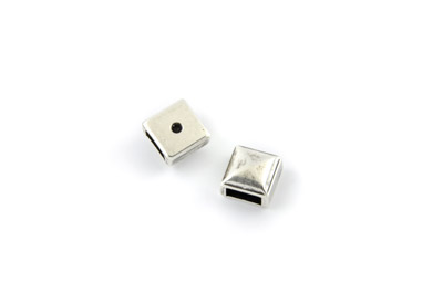 slider bead square 10mm x10pcs