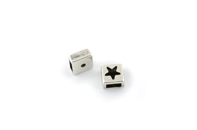 slider bead square star 10mm x20pcs