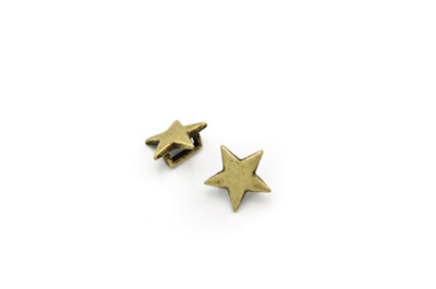slider star 13mm antik bronze x20pcs