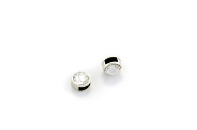 slider bead with strass round 9mm x10pcs