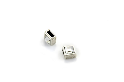 slider bead with strass square 9mm x10pcs