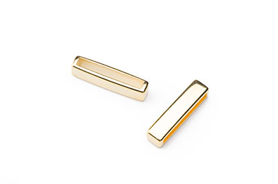 slider bar gold color 23x6mm for 20mm flat strip x12pcs