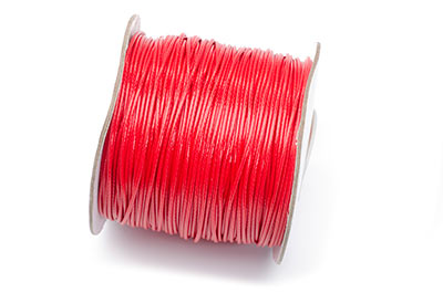 wax cord 1mm red x90m