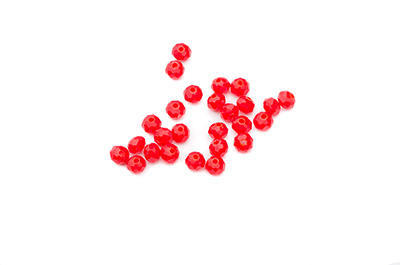 faceted glass rondelle 3x4mm coral red x150pcs aprrox