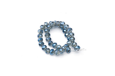 faceted washer 3x4mm blue gray x1fil