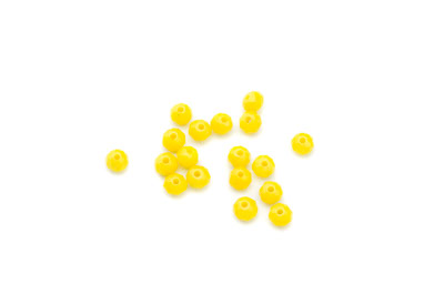 faceted glass rondelle 3x4mm lemon yellow x100pcs