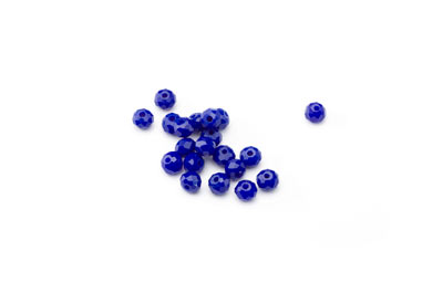 faceted glass rondelle 3x4mm blue x130pcs