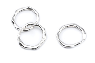 ring irregular 27x24mm x15pcs