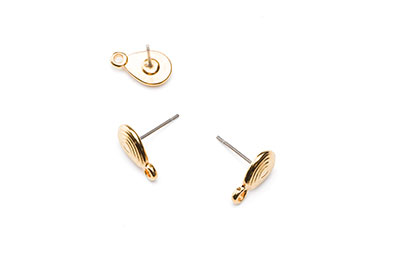 oval earring 13x8mm x10pcs