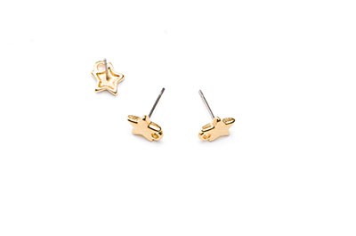 star earring 10mm with 1 ring x12pcs
