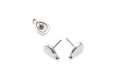 stone earring with a titanium brooch x10pcs