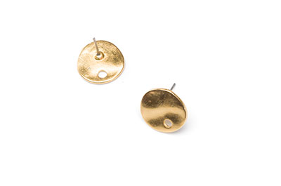 earring with gold hole 13mm x10pcs