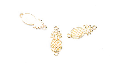 pineapple 22mm with 2 golden rings x16pcs