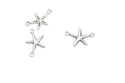 starfish connector 2 rings 20x13mm x16pcs