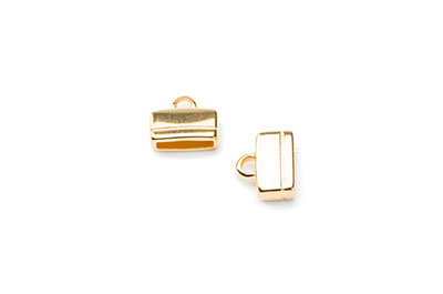 ending for 10mm flat leather 13x11mm gold x10pcs