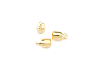terminator 13x7mm gold color for 5mm cord x20pcs