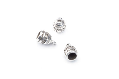 ending 14x9mm for 6mm cord x20pcs