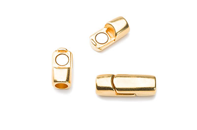 magnet clasp 24x9mm for 5mm round cord x4pcs