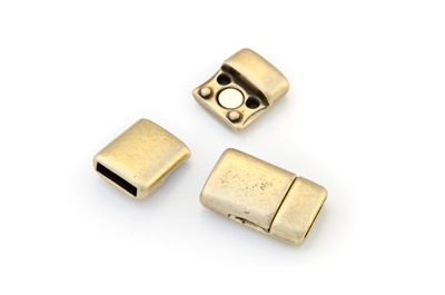 magnet clasp smooth 22x14mm bronze for 10mm flat leather x5pcs