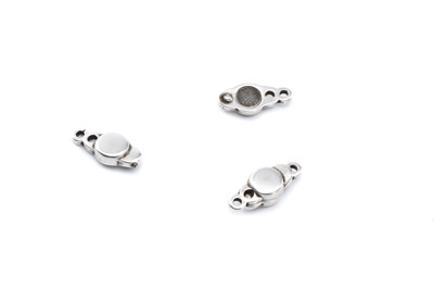 magnetic clasp 18x7mm with 2 eyes x10pcs
