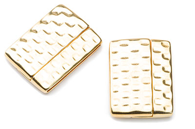 hammered magnetic clasp 33x25mm for 30mm flat leather x2pcs