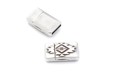 magnetic clasp for 10mm flat leather 13x23mm x5pcs