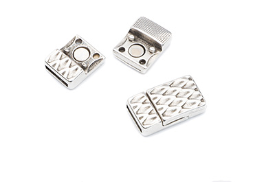 magnet clasp 23x13mm for 10mm flat leather x5pcs
