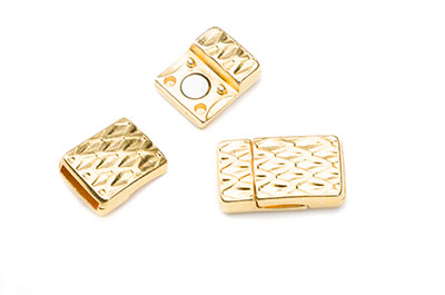 magnet clasp 23x13mm for 10mm flat leather x4pcs
