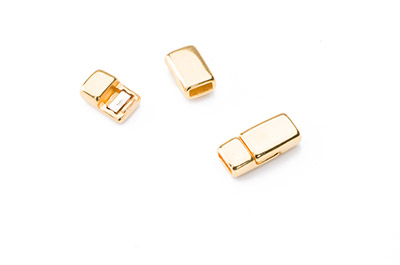 magnet clasp 17x8mm gold color for 5mm flat leather x5pcs