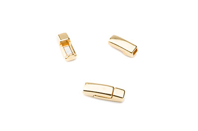 magnetic clasp 17x5mm gold color for 3mm flat band x5pcs