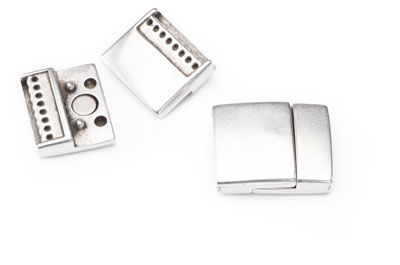 magnetic clasp 24x20mm with 8 rings x3pcs