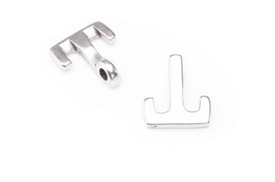 T clasp anchor 23x20mm for 4mm cord x10pcs
