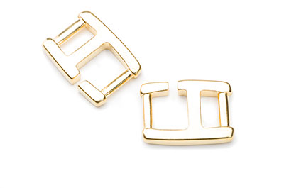 clasp 26x19mm for 10mm flat band x8pcs