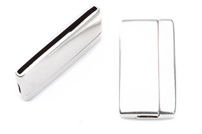 magnetic clasp 22x43mm for flat band 40mm x2pcs