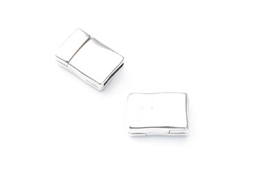 magnetic clasp hammered 19x13mm for flat band 10mm x5pcs