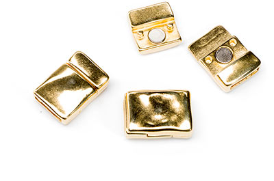 clasps for 10mm hammered strap 19x13mm gold tone x3pcs