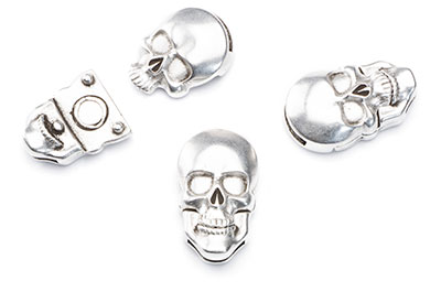 magnetic clasp skull for 10x2mm x4pcs