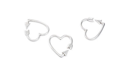 clasp heart arrow 17mm x12pcs