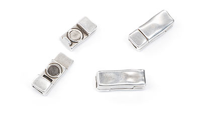 hammered magnetic clasp 20x8mm for strap 5mm x5pcs