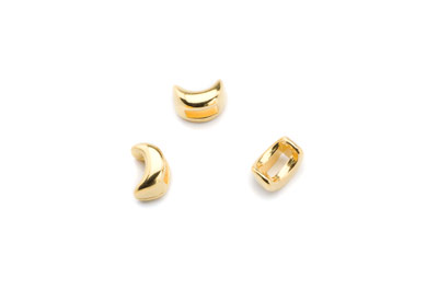 slider moon 11x6mm gold color x30pcs