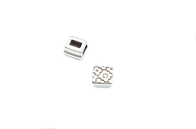 slider square 9mm for 5mm flat leather x20pcs
