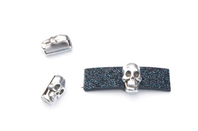 Slider skull 13x8mm for flat band 10mm x20pcs