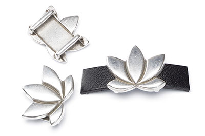 passing lotus flower for thong 10mm 23x20mm x8pcs