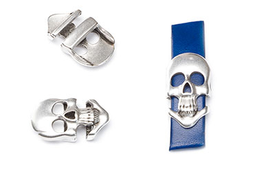 passing skull and crossbones 10mm 23x13mm x6pcs