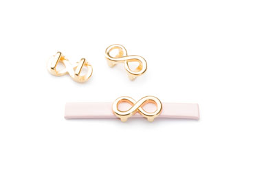 Slider infinity loop 15x8mm for flat band 5mm gold x20pcs