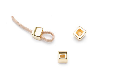 passing end cap 7x7mm gold color for thong 3mm x16pcs