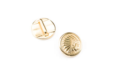 slider round indian 17mm gold color for 10mm flat band x10pcs