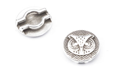 slider owl 24mm for 20mm flat band x8pcs